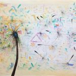 Unframed Oil Paint - Dandelion 2 - 70x140cm