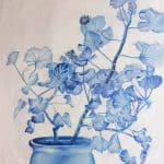 IN STOCK - $440 - Unframed Oil Paint - Flower Pot 2 - 90x120cm