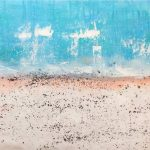 Unframed Oil Paint - Sandy Beach 2 - 70x140cm