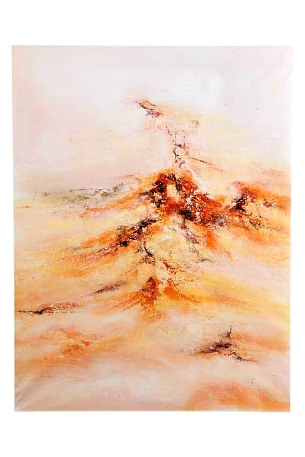 IN STOCK - $350 - Oil Painting on Canvas Orange Abstruct - 75x100cm