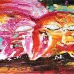 IN STOCK - $440 - Unframed Oil Paint - Abstruct 5 - 70x140cm