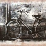 IN STOCK - $440 - Unframed Oil Paint - Bike - 70x140cm