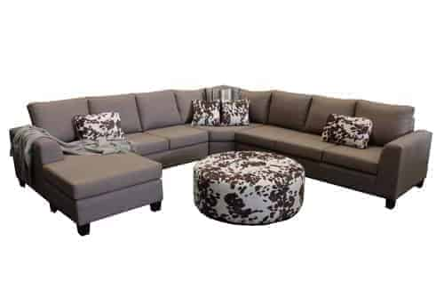 chaise lounge sofa corner modular include round ottoman