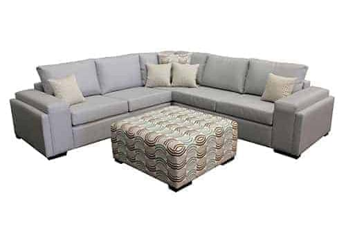 sectional corner modular sofa lounge double layer arm include ottoman