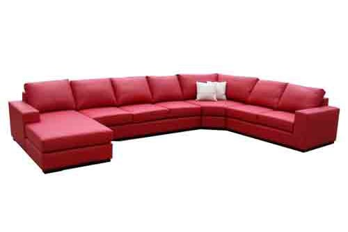 8 seater Italian leather corner modular chaise sofa lounge