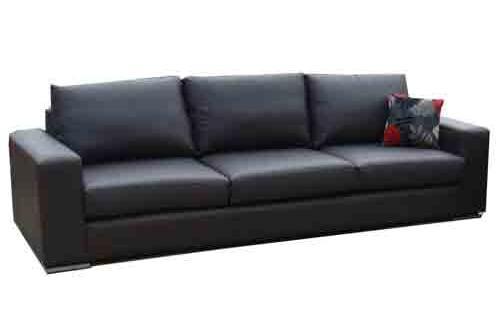 Australian made leather 3.5 seater - sofa lounge suite
