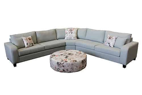 chaise lounge - sofa corner modular - include round ottoman - sectional corner lounge