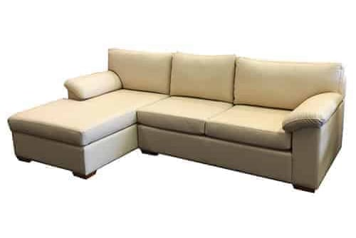 Australian made - leather chaise lounge - sofa corner modular