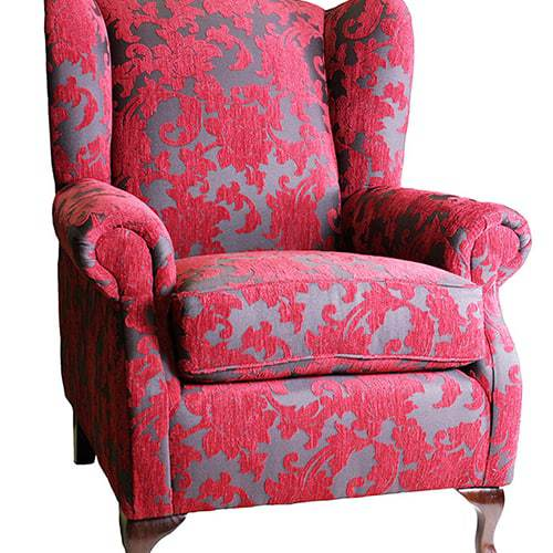 queens_wing_chair_flax_01 Australian Made Designer Accent Boutique Occasional Chair Warwick Fabric