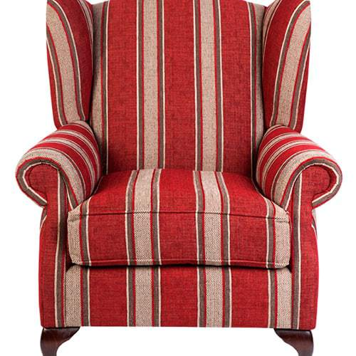 wing chair - Designer Chair - Accent chair - Boutique Chair - Occasional Chair -Warwick Fabric