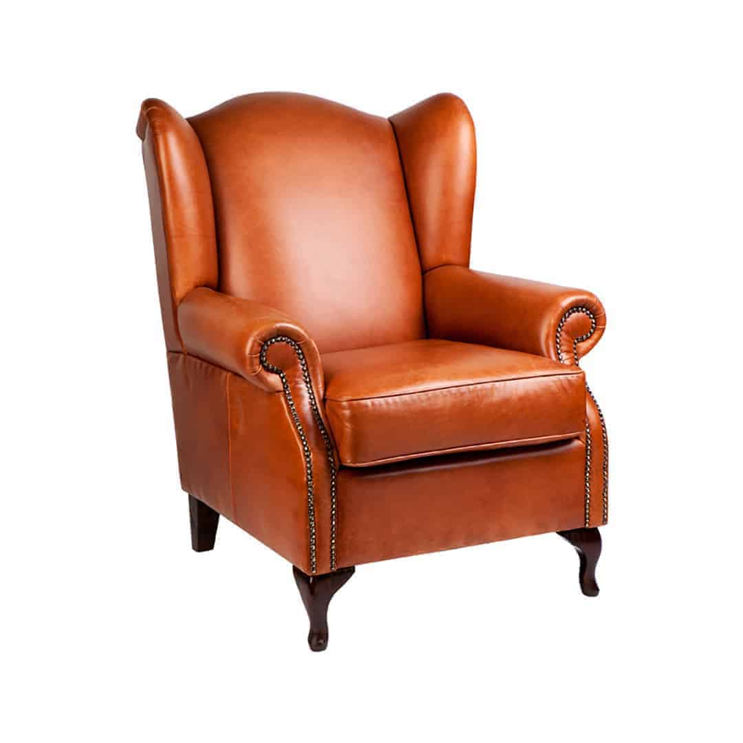 queens_wing_chair_studs_01 Australian Made Designer Accent Boutique Occasional Chair leather studs