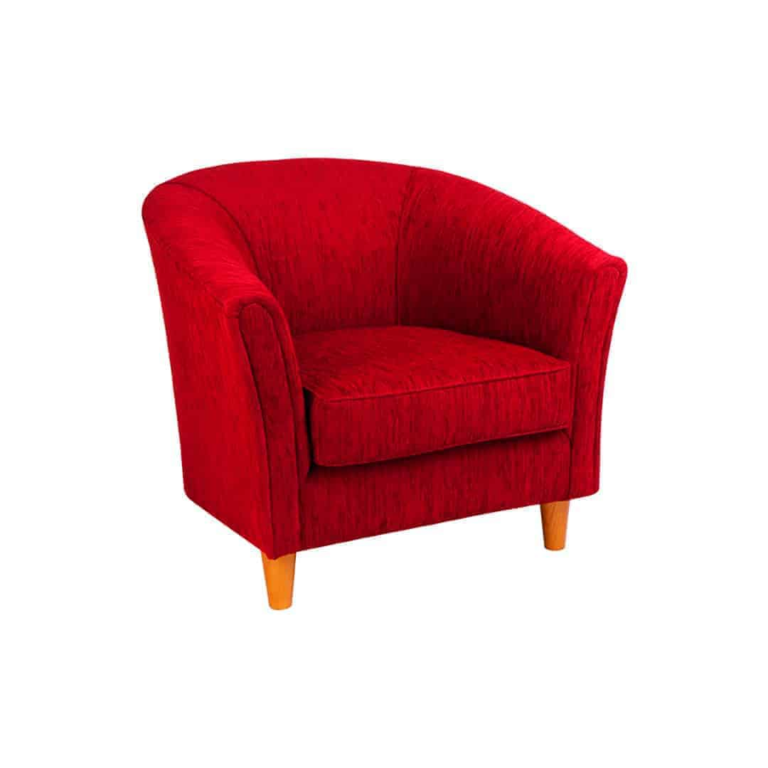 ruth_tub_chair_Australian Made Designer Accent Boutique Occasional Chair Warwick Fabric