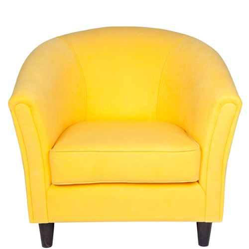 ruth_tub_chair_canary_01 Australian Made Designer Accent Boutique Occasional Chair Warwick Fabric