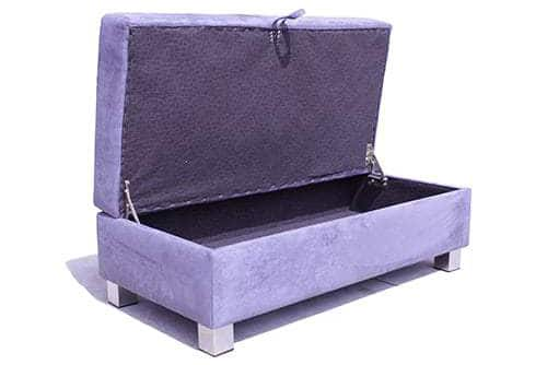 Storage ottoman - round ottoman - warwick fabric – square - rectangle ottoman – footstool - chaise ottoman
