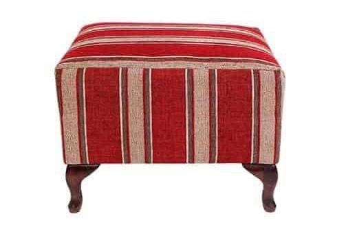 Storage Wing Ottoman - round ottoman - warwick fabric – square - rectangle ottoman – footstool - chaise ottoman