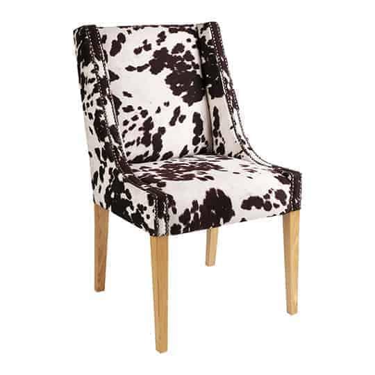 Zara Feature Dinning chair – Australian made - Designer Chair - Accent chair - Boutique Chair - Occasional Chair -Warwick Fabric