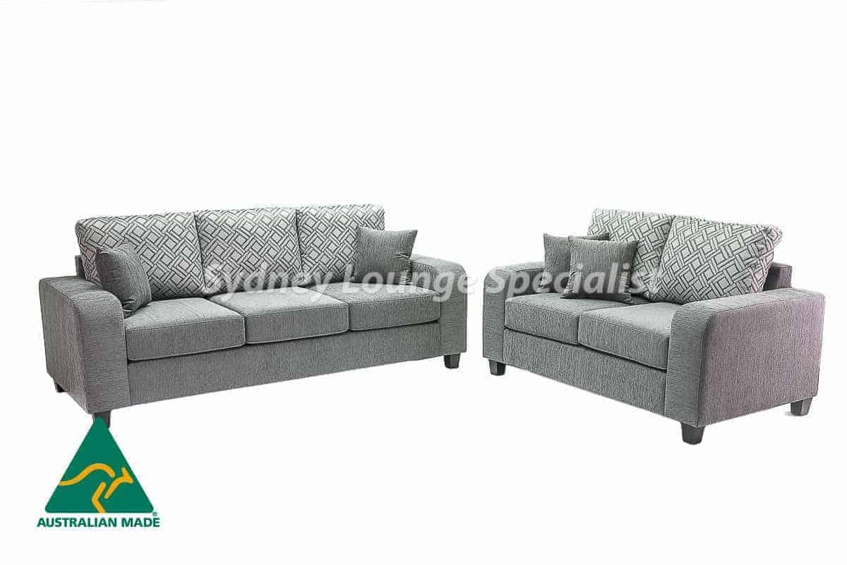 Hills 3 seater + 2 seater Australian made sofa lounge suite set warwick fabric