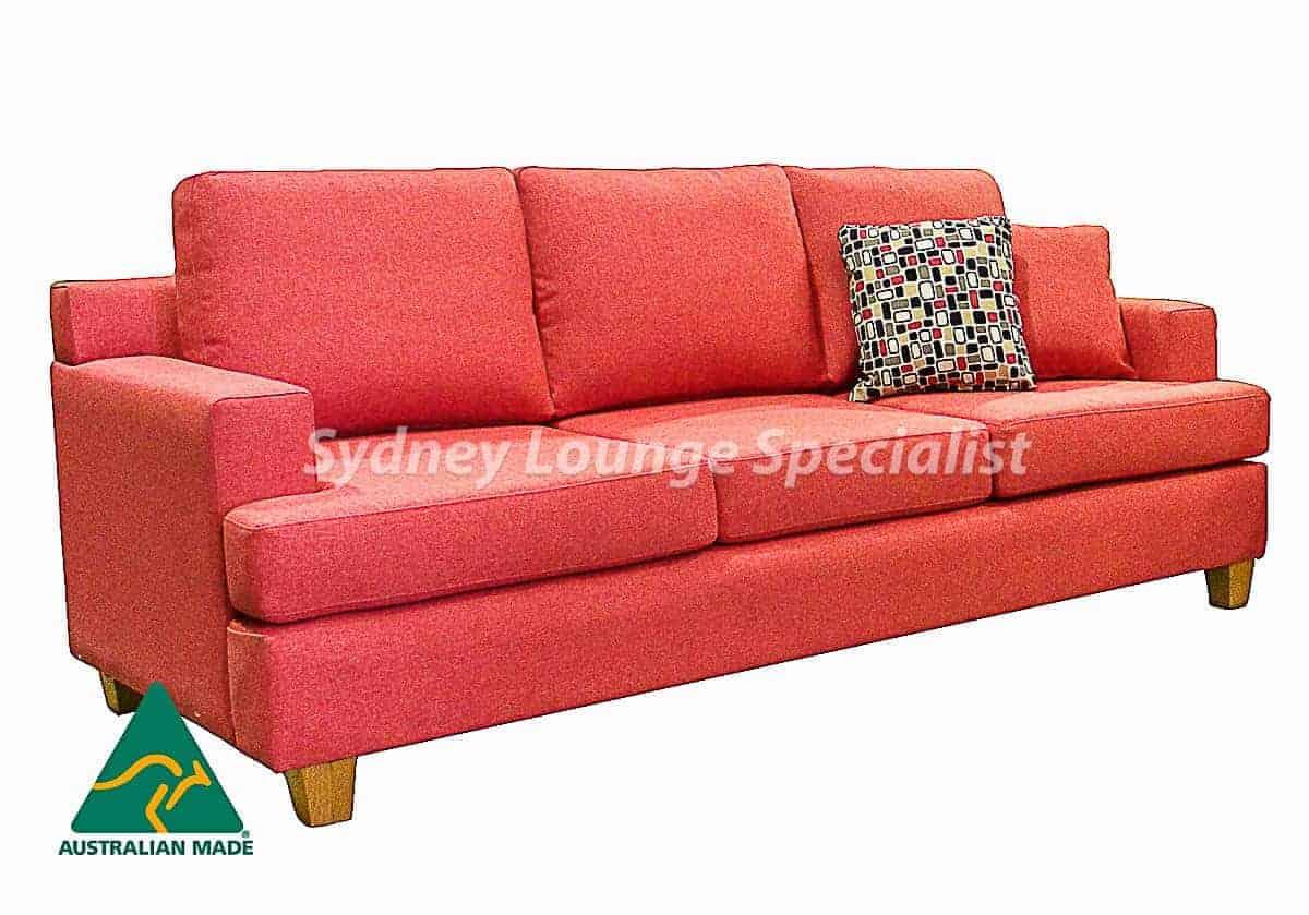 Casper 3 seater + 2 seater Australian made sofa lounge suite set warwick fabric