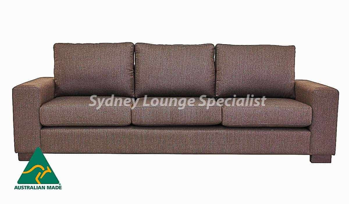 Cosmo 3.5 Seater Australian made sofa lounge suite set warwick fabric
