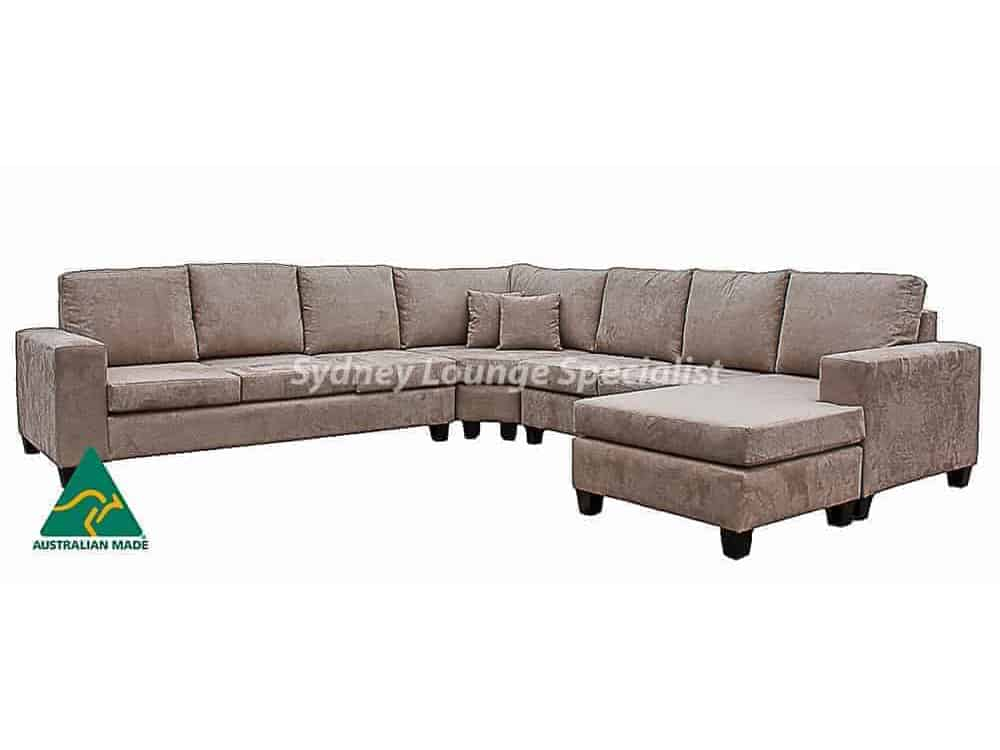 Cosmo Deluxe – 8 Seater – Warwick Universal Suede Almond