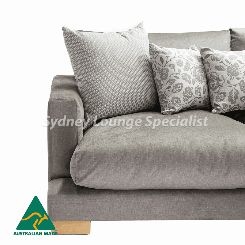 Adrian 3 Seater + Chaise RHF (Feather Cushion) Australian made
