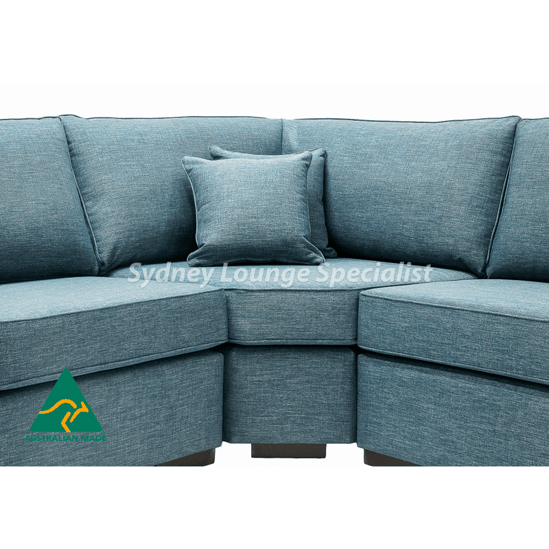 Tamarra Australian made fabric chaise lounge sofa corner modular