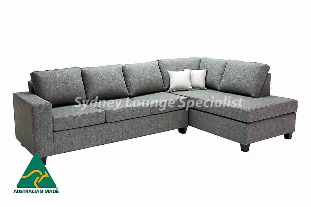 Kingsrove 3 seater Queen Sofa Bed + Chaise RHF Australian made