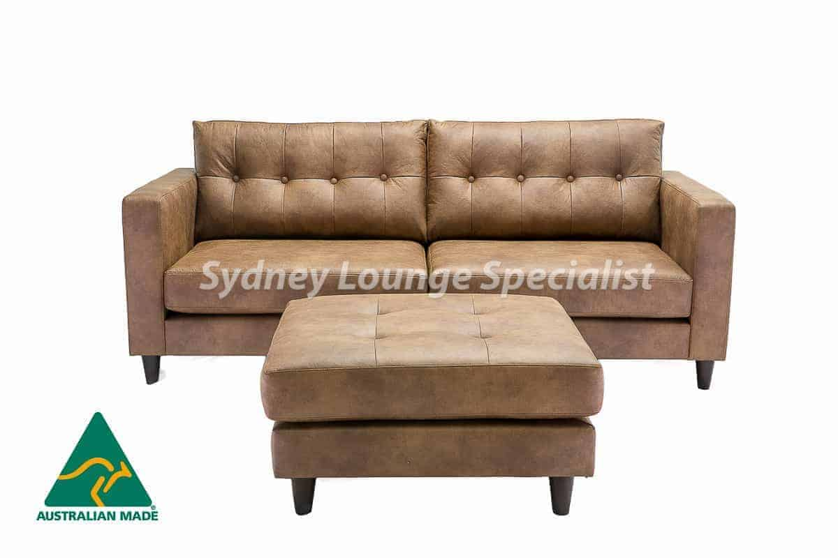Australian Made 3 seater sofa lounge with button leather (1)-2
