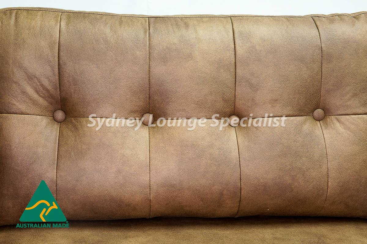 Australian Made 3 seater sofa lounge with button leather (5)-2