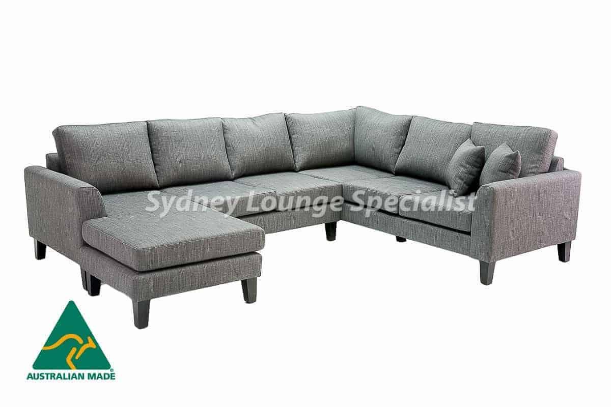 Sydney chaise lounge sofa corner modular suite Australian Made 03