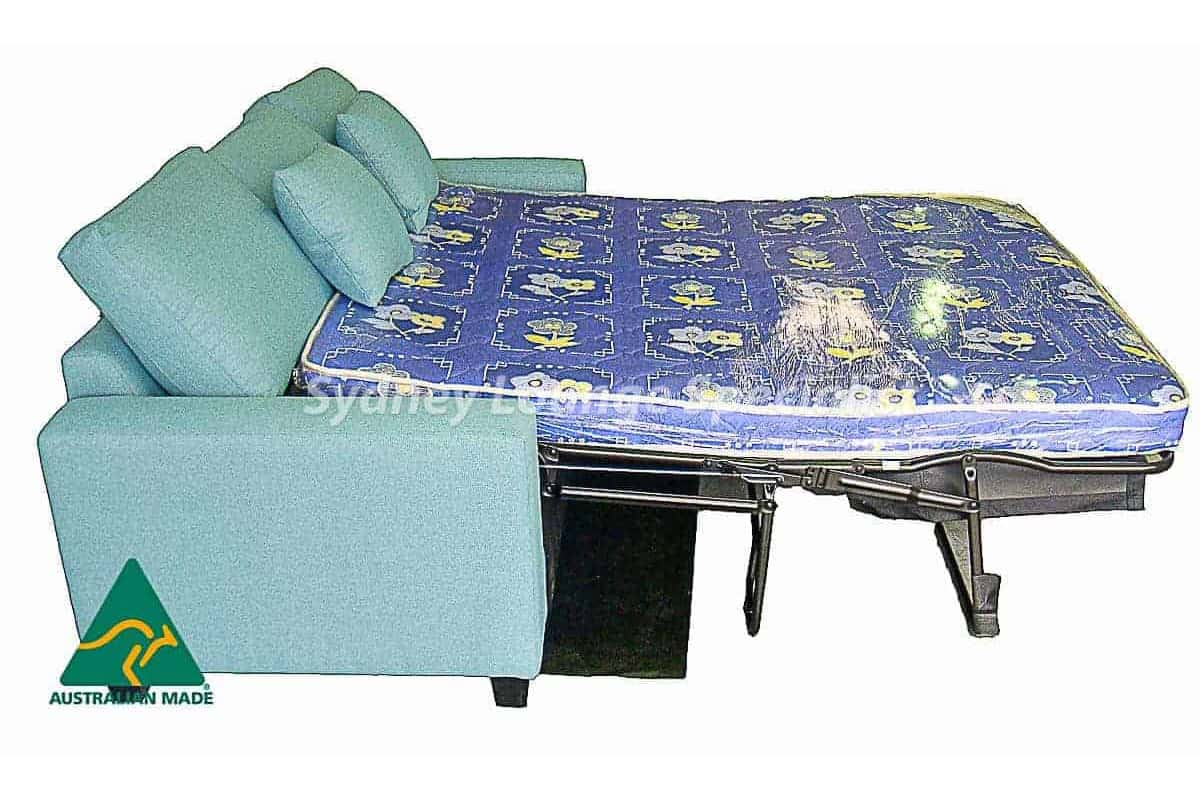 Taylor 3 seaters with Queen 4 inch Latex Sofabed Australian made warwrik fabric