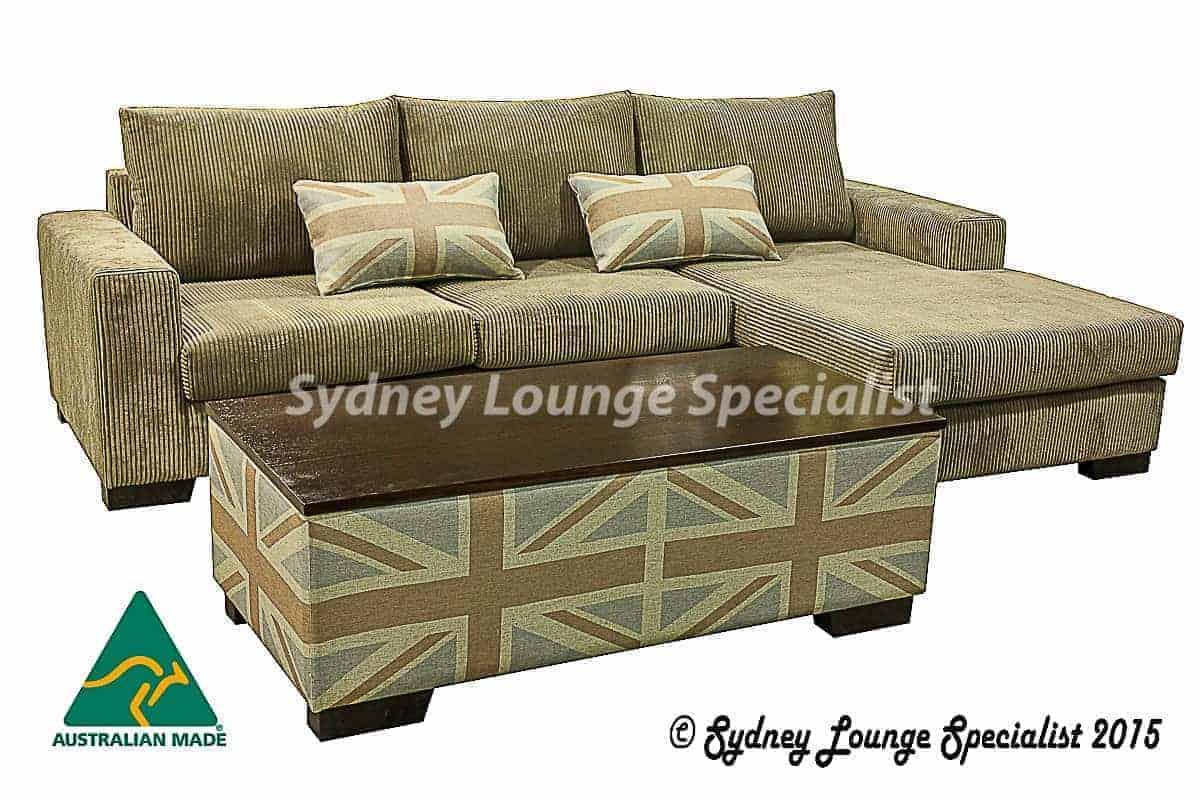 Quattro Corner Modular Chaise Lounge Ottoman