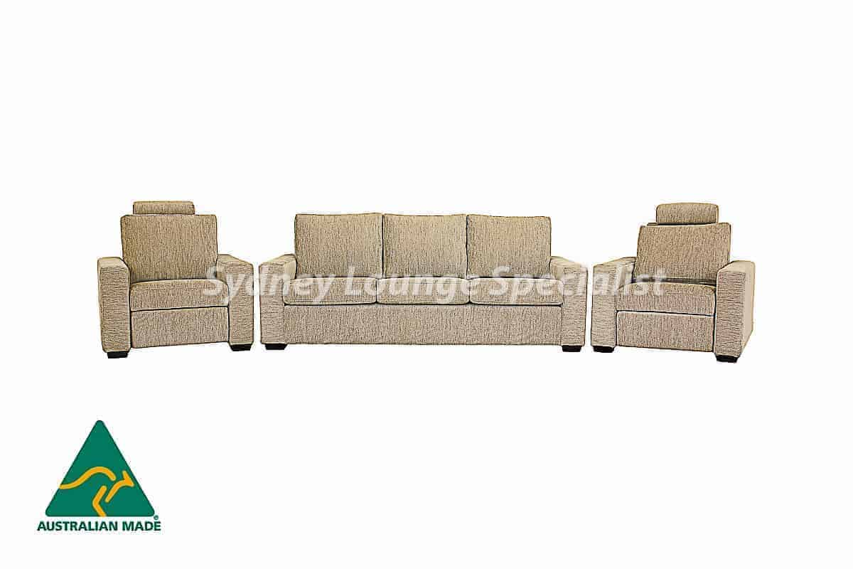 Lindeman 3 Seater + 2 X Recliner Chair Australian made