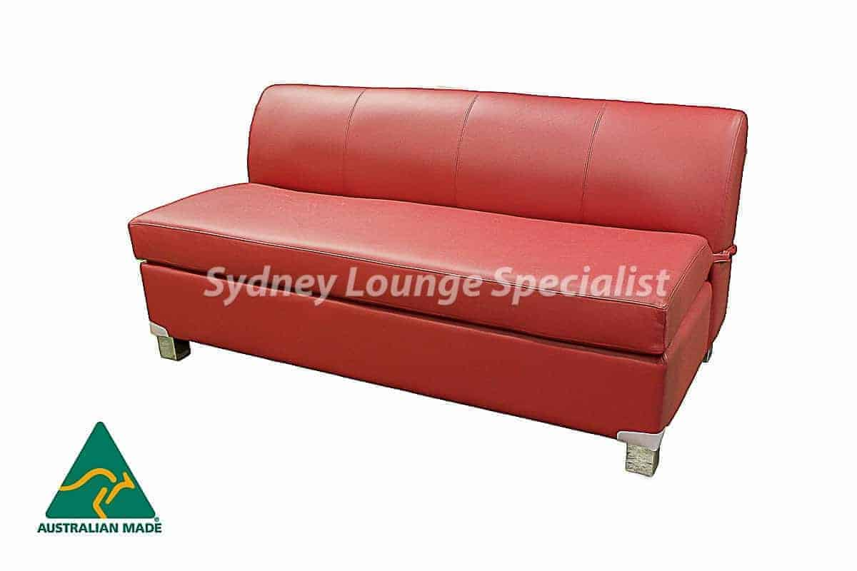 Chicago 2.5 Seater Double Leather Sofa Bed Australian made