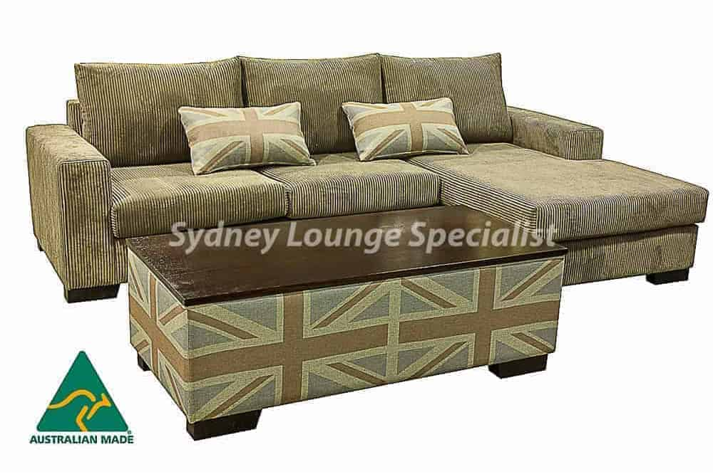 Quattro 3.5 + Lounge Chaise (RHF) + Ottoman 1400 x 600 Timber Top