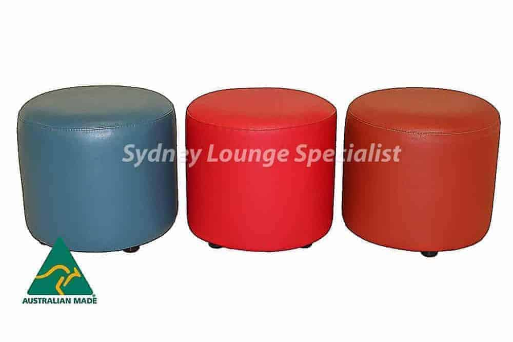 Australian Made Commercial Round Ottoman Head custom made sydney
