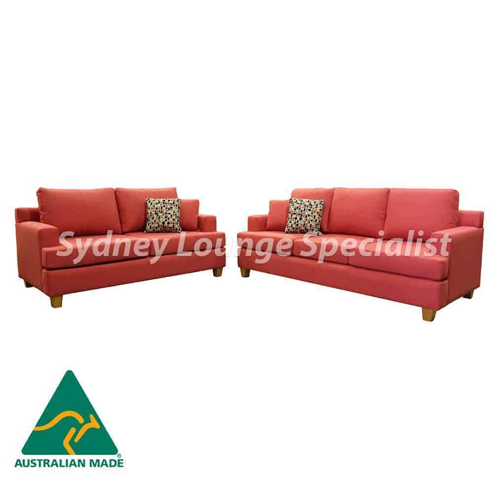 3 seater + 2 seater sofa lounge suite set