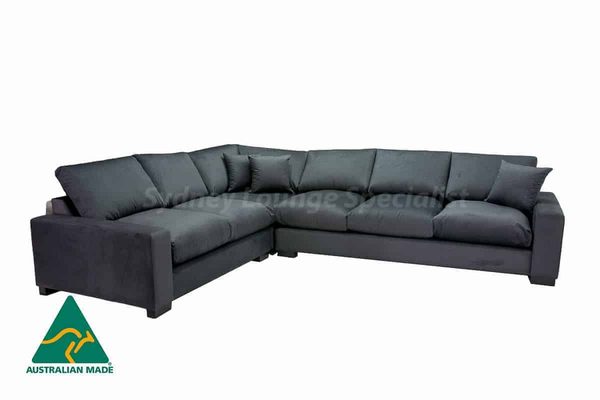 Large leather modular lounge available at Sydney Lounge Specialist