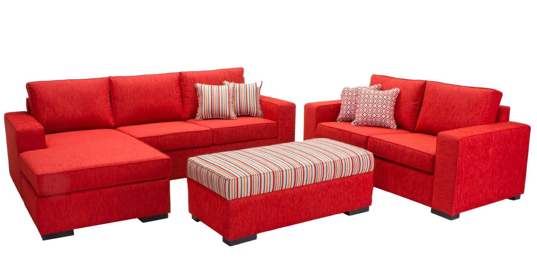 Red Modular Lounge — Buy Modular lounge suites from Sydney Lounge Specialists