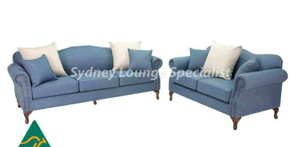 Caulfied 3 Seater + 2 Seater Fixed Back With Studs