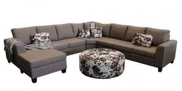 Boston 8 Seater Corner Modular chaise lounge sofa corner modular include round ottoman