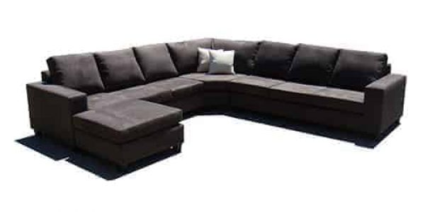 8 seater sectional corner modular lounge - sofa chaise suite