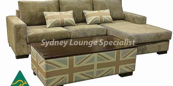 Quattro sectional corner modular chaise lounge sofa ottoman