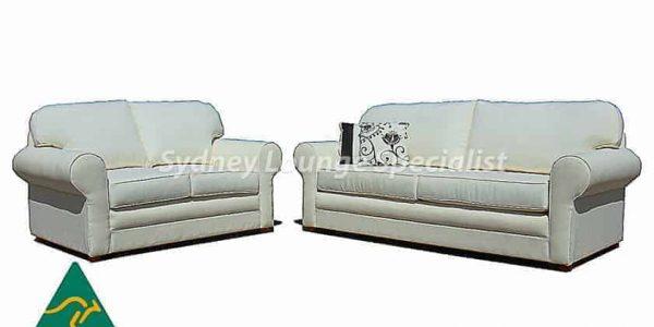 Plush 3 seater sofa lounge suite set - buttoning – studs