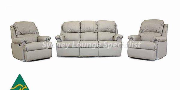 Hilton 3 Seater + 2 X Recliner Chair, home theatre recliner modular sofa lounge - lift chair – recliner chair – electric recliner – recliner sofa Sydney