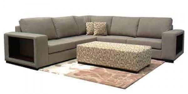 Hamilton Deluxe sectional corner modular sofa lounge include ottoman