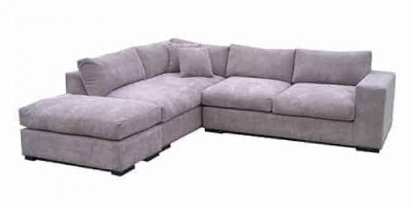 chaise lounge sofa corner modular include ottoman - feather cushions