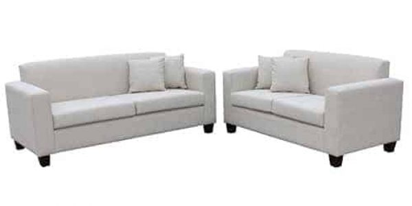 3 seater sofa lounge suite set - buttoning - studs