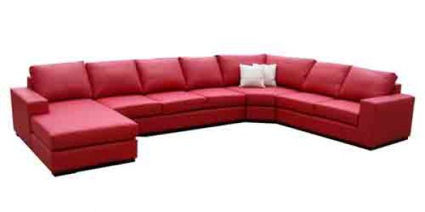 Napoli Deluxe - 8 seater Italian leather corner modular chaise sofa lounge