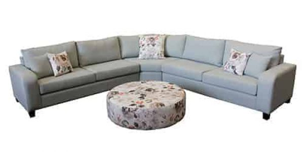 chaise lounge - sofa corner modular - include round ottoman - sectional corner lounge